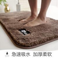 卫生间门口地垫家用进门地毯卧室洗手间门垫吸水脚垫浴室防滑垫厚 新品 soft 浅栗色