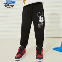 【品秒价:42】迪士尼男童长裤春新款2020时尚奇趣针织长裤男