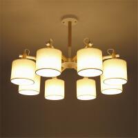 批发创意简约客厅韩式布艺吸顶灯北欧餐厅卧室铁艺吸顶灯书房灯