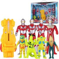 锐视 奥特曼+战机 咸蛋超人  vs怪兽混合组合套装 小孩儿童玩具 1141201-02组合*