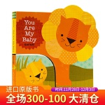 英文原版绘本You Are My Baby: Safari 你是我的宝贝:野生动物园 纸板书 大书带小书 幼儿英语亲子
