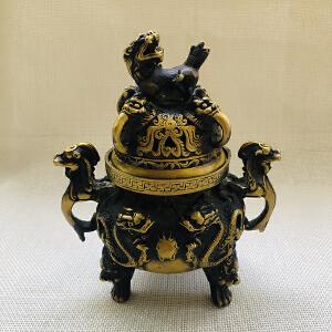 二龙戏珠香炉
