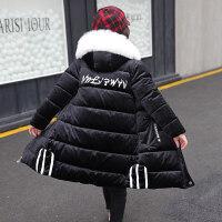 女童大衣女童冬�b棉衣2018新款中�L款棉�\�和�女孩金�z�q�n版加厚外套MYZQ67 110cm(110�a建�h身高95-10