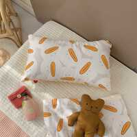 儿童枕头3-6-10岁纯棉宝宝枕头四季通用幼儿园午睡豆豆枕芯学生枕