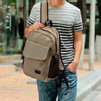 男士背包韩版帆布包休闲包运动包双肩包旅行包学生书包潮包电脑包