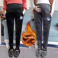 孕妇裤子冬季金丝绒加厚加绒托腹裤2018新款孕妇休闲裤女保暖外穿