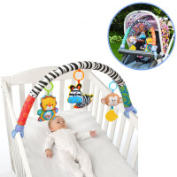儿童新生儿床铃床挂婴儿推车挂件婴儿音乐车夹宝宝安全座椅玩具