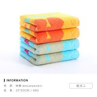 洁玉儿童毛巾纯棉加厚柔软吸水童巾家用宝宝洗脸面巾4条装