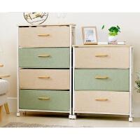 抽屉式收纳柜整理柜简约现代储物箱柜多功能简易床头柜 三层 3个