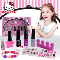 HELLO KITTY 凯蒂猫 壹百分创意美甲组合 美妆玩具KT-8583 儿童化妆品公主彩妆套装指甲油装饰指甲片女童
