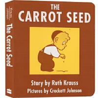 The Carrot Seed 胡萝卜种子 英文原版 纸板书 吴敏兰绘本123 第84本