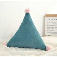 【2件5折】毛绒玩具 新年礼物 予米艺 新品ins星星月亮抱枕床头靠垫皇冠飘窗装饰沙发靠枕毛绒玩具定制 三角绿色