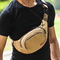 户外包帆布 潮男 跑步包 小背包胸包韩版跑步腰包 休闲运动男士斜挎包
