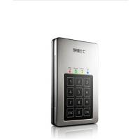 元谷存储巴士谍密DM250按键加密2.5寸500G移动硬盘AES硬件加密免软件
