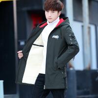 秋冬新款外套男夹克中长款韩版潮流帅气风衣男士外套加绒加厚