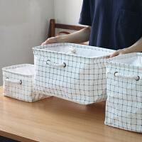 防水折�B衣物�ξ锵� 收�{盒收�{箱 收�{用品整理箱 收�{盒-小清新格子