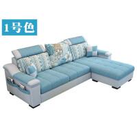 【品牌特惠】布艺沙发简约现代小户型客厅家具可拆洗三人位四人位沙发组合 电视柜