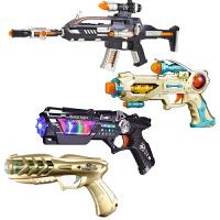 儿童电动玩具枪声光音乐枪小孩宝宝男孩生冲锋枪2-3-5-6岁六一儿童节礼物 ++