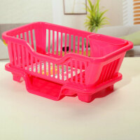 厨房置物架 塑料加厚滴水碗碟收纳架 滤水沥水碗碟架 滴水碗架(正面漏水)
