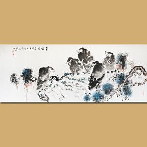 安徽省美术家协会会员、著名花鸟画家张华先生作品――群英会69*180
