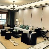 【热卖新品】新中式沙发罗汉床全实木布艺沙发组合禅意客厅样板房酒店家具定制 其他