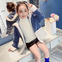 儿童加厚外衣女孩洋气风衣2019新款韩版派克服女童秋冬装外套