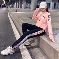 运动套装女2020秋季新款韩版休闲时尚宽松长袖长裤学生百搭两件套潮