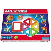 科博MAG-WISDOM磁力智慧片 魔磁建构片20件 磁力片建构片玩具积木