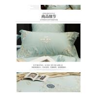 床上用品四件套全棉纯棉欧式贡缎床单被罩被套被子床笠4件套1.8m定制