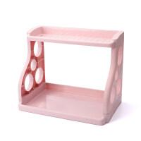 多用双层厨房置物架调味料收纳架落地塑料刀架调料架调味品架子