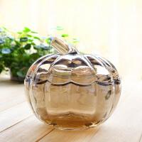 【新品】时尚玻璃储物罐带盖糖缸欧式糖果罐茶几餐桌现代简约家居饰品摆件 大号款