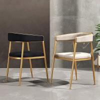 北欧轻奢餐椅家用靠背椅现代简约休闲网红酒店餐厅设计师椅子