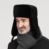 冬季老人帽子男护耳保暖东北雷锋帽冬天中老年人爸爸爷爷老头棉帽