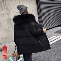 白鸭绒反季新款时尚羽绒服女中长款韩版潮加厚冬