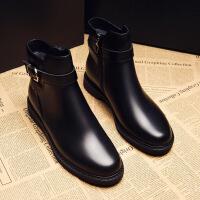 短靴女秋冬季新款韩版马丁靴女英伦风学生百搭平底切尔西靴子