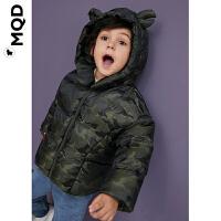 【折后券后�A估�r:186】MQD童�b小童迷彩羽�q服19冬�和��B帽蟹�_�b�外套����保暖防寒服