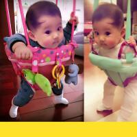 跳跳椅婴儿玩具6-12个月宝宝弹跳秋千儿童室内健身架0-3岁 横杆