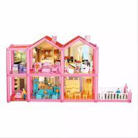 芭比娃娃房子 娃娃过家家芭芘娃娃房子套装公主城堡女孩 公主屋大礼盒 芭比娃娃