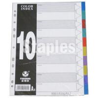 富得快FD-1000十页彩色塑料分页纸/隔页纸/分类纸