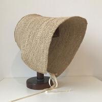 古典优雅萝莉草帽出游海边遮阳拉菲草帽女夏季日系遮阳帽