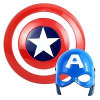 万圣节儿童卡通动漫发光面具声光美国队长盾牌玩具COS道具男