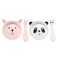 【优选】防摔宝宝儿童饭碗家用可爱碗碟碗筷瓷碗卡通陶瓷个性吃饭汤碗餐具