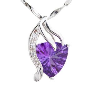梦克拉 18K金紫水晶吊坠女款 奇遇 彩宝紫水晶心形吊坠 项链吊坠  可礼品卡购买
