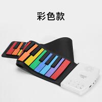 六一礼物 手卷电子钢琴折叠便携式49键初学者女孩音乐玩具 【缤纷彩虹款】手卷钢琴49键