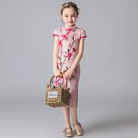 女童旗袍夏季中国风礼服裙子春秋洋气儿童汉服小女孩宝宝唐装夏装