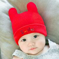 亲子装儿毛线帽婴儿帽子3-6-12个月男女宝宝儿童套头胎帽保暖秋冬