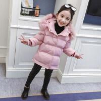 儿童棉衣洋气冬装外套2018新款韩版女孩加厚短款棉袄秋冬女童棉服
