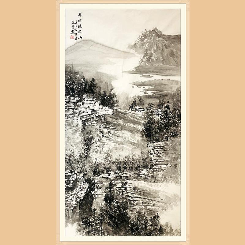 中国美协会员 石高堂(祥云绕家山)ZH515