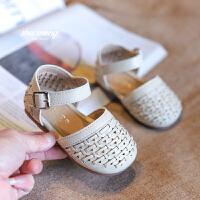 0-1-3岁女宝宝鞋子春秋婴儿学步鞋软底包头凉鞋幼儿公主鞋