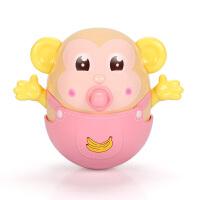 不倒翁玩具大号带声音的婴儿3-6-9-12个月宝宝早教0-1岁 牙胶奶嘴不倒翁 8658C女童